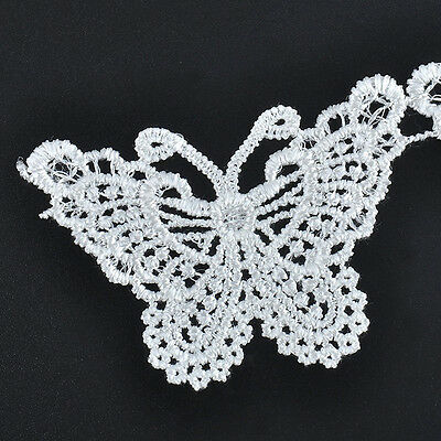 1M Lace Butterfly Vintage Edge Trim Ribbon Applique Sewing Wedding Decor Crafts