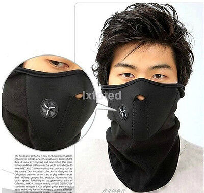 Motorcycle Snowboard BALACLAVA Ski Cycling Half Face Mask Neck Warmer Cover au~