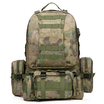 50L Tactical Outdoor Molle Assault Military Rucksacks Backpack Camping Bag