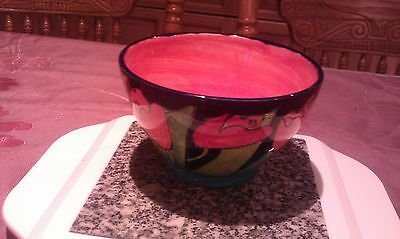 Rare Beautiful Vintage Signed Loudware Hand Made Dish Vibrant Painted Tulips1991