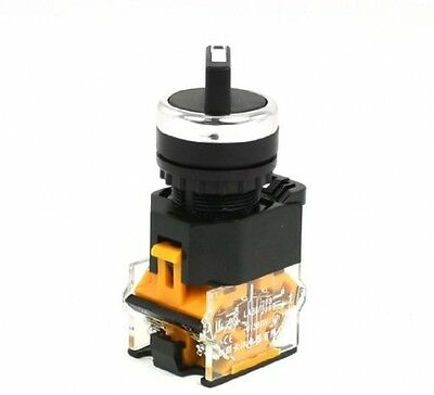 AC 380V 10A 1NO 1NC 2 Position Rotary Selector Self-Locking Push Button Switch