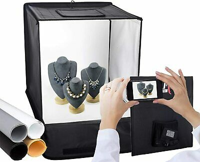 LED Light Tent Cube | Portable Photography Studio | Backdrops Included | 40cm