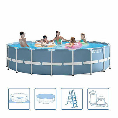 Intex 28752BS Prism Frame Round Swimming Pool Extra Large 5.49m x 122cm High