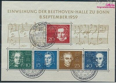FR of Germany block2 used 1959 Beethoven (8609968