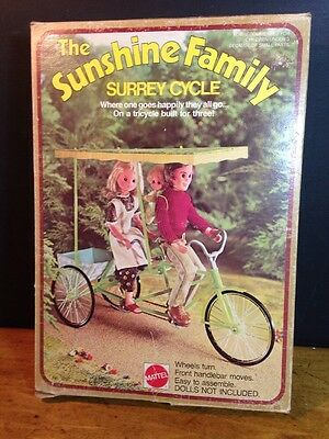 Mattel Sunshine Family Surrey Cycle Tandem Bike Box 1974 No 7237 Never Assembled