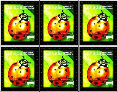 10x CANADA 2009 CANADIAN LADY BEETLE INSECT MINT FV FACE 10 CENT MNH STAMP LOT