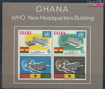 Ghana block20 (complete issue) unmounted mint / never hinged 1966 WHO (8777076