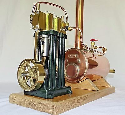 Live Steam Twin Cylinder Marine Model Steam Engine and Boiler Complete Kit