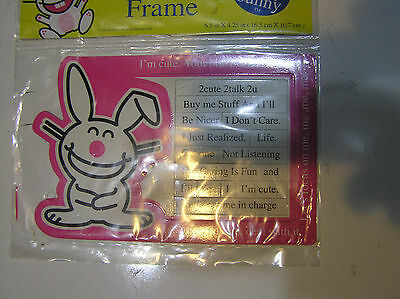 Jim Benton Happy Bunny Magnetic Photo Frame 6.5 X 4.25 New