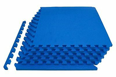 6 x BLUE AWNING CARPET FLOOR EVA MATS OUTDOOR TILES CARAVAN GYM