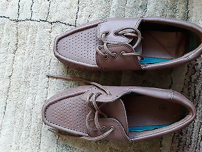 Lawn Bowling  Shoes  LEATHER  -  Ladies TAN BROWN size 5