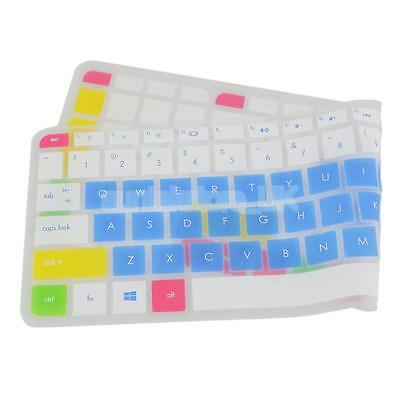 Silicone Laptop Notebook Keyboard Protector for HP Pavilion 15'' White Blue