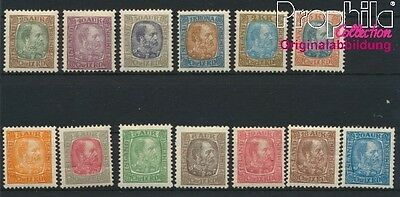Iceland 35-47 (complete issue) with hinge 1902 Christian (8883124