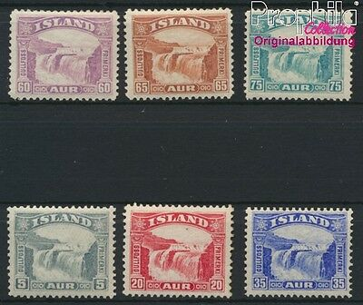 Iceland 150-155 unmounted mint / never hinged 1931 Gullfoss (8883141