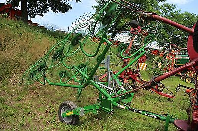Frontier / John Deere WR1010 8 Wheel Hay Rake for Tractors. Decent Shape.