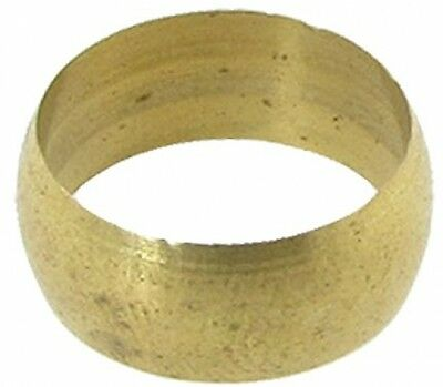 12mm Dia Tubing Brass Compression Sleeve Ring Gold Tone