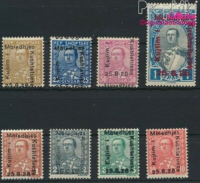 Albania 171-178 (complete issue) with hinge 1928 printed marks (8927917