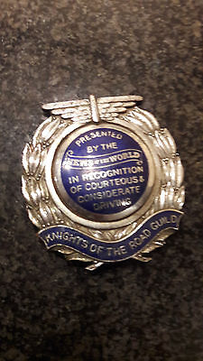 Rare 1930's Knights of the road guild car badge