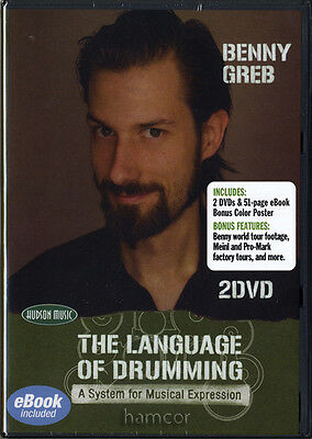 Benny Greb The Language of Drumming Learn How to Play Drum Tuition 2 DVD Set