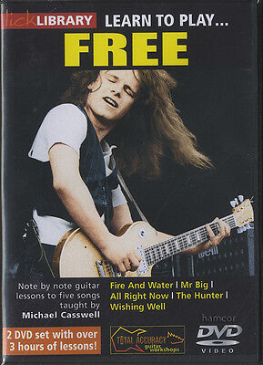 Learn to Play Free Lick Library Guitar DVD Set Michael Casswell Paul Kossoff