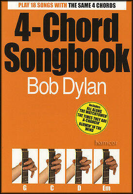 4-Chord Songbook Bob Dylan Easy Guitar Chord Song Book