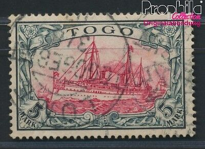 Togo, German Colony 19 proofed used 1900 Imperial Yacht Hohenzollern (8984447