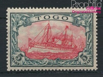 Togo, German Colony 23II B MNH 1919 Ship Imperial Yacht Hohenzollern (8984445