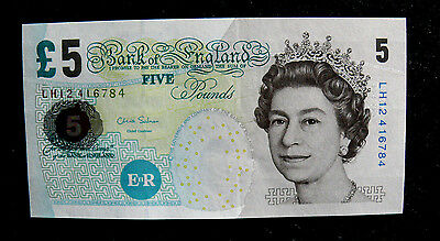 Banknote  5 Pfund (Fünf) Pounds GROSSBRITANIEN /  Bank of England