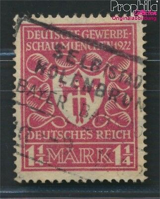 German Empire 199b proofed fine used / cancelled 1922 German Trade Show (8984292