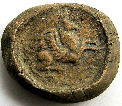 Hellenistic Theater token_terracotta with Pegasos _ca. 3rd - 1st centuries BC