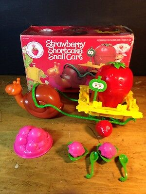 Strawberry Shortcake Snail Cart Kenner 43200 1980 Complete W/box Vintage