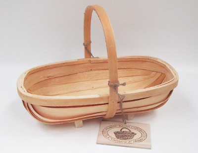 Traditional Wooden Sussex Trug Flowers Fruits Display Storage Basket 42cm x 23cm