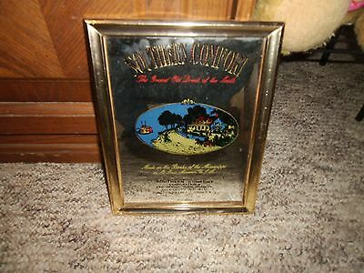 Southern Comfort Whiskey Mirror Wood Frame- The Grand Old Drink of the South