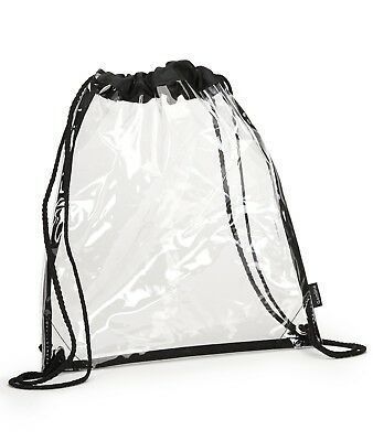 Gemline 4885 Backpack Unisex Clear Event Cinchpack NEW Clear One Size