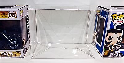 1 Box Protector For FUNKO POP! CHOPPERS  Wolverine / Daryl Dixon Display Case