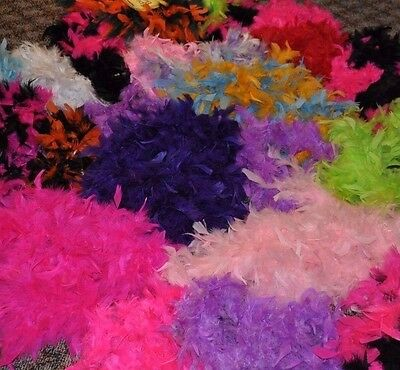 Large Lot of 21 Feather Boas Various Sizes & Colors Costumes, Crafts Scarves 1B