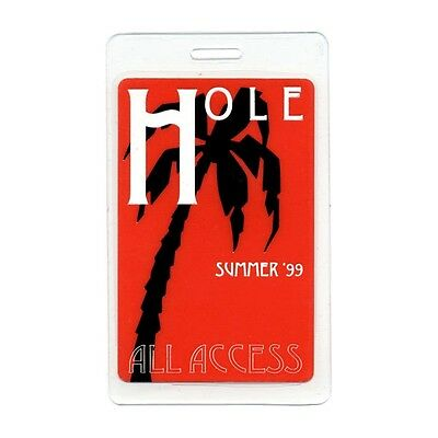 Hole authentic 1999 concert tour Laminated Backstage Pass Courtney Love AA