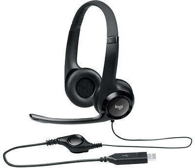 Logitech H390 ClearChat Comfort USB Headset with Noise-canceling Microphone
