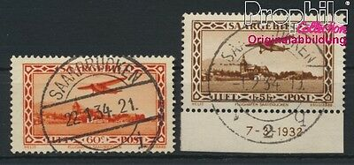 Saar 158-159 (complete issue) fine used / cancelled 1932 Airmail (8894275