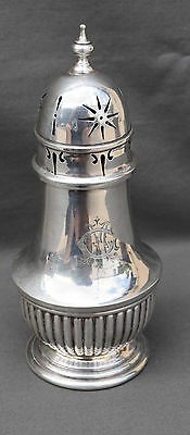 Antique Solid Sterling Silver Georgian Sugar Caster Shaker