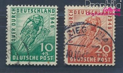 Bizonal (Allied Cast) 106-107 fine used / cancelled 1949 Cycling (8357713