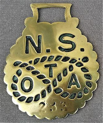 Antique cast horse brass - North Staffordshire Team Owners Association No. 235