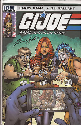 GI Joe ARAH #180 IDW San Diego Comicon Scarlett cover autographed Awesome Con VF