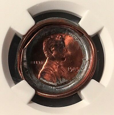 1985 Two Planchet Bonded Pair Lincoln Penny Mint ERROR NGC MS-68 RED
