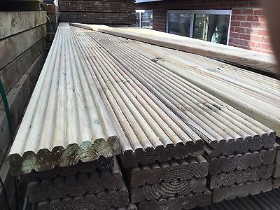 Decking Boards Treated Garden Wooden Tanalised 120 X 28mm 3.6m