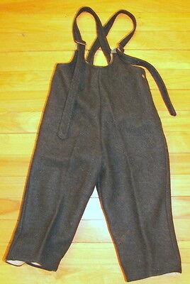 Vintage Children's Clothing  - Gray Wool Snowpants  - 1930s-40s Approx. Size 3