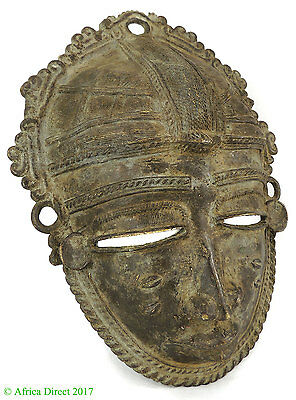 Baule Mask Bronze Cote D'Ivoire African Art SALE WAS $350