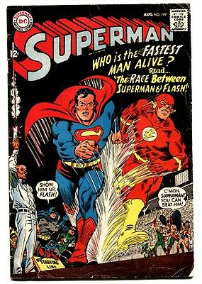 SUPERMAN #199 comic book 1967-DC COMICS FLASH BATMAN-WONDER WOMAN