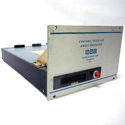 Ddc 6015 Syncrho Resolver Aircraft Api Angle Position Indicator 400Hz Tested