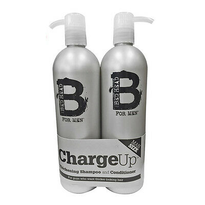TIGI Bed Head B For Men Charge Up Thickening 750mL Shampoo & Conditioner Hair
